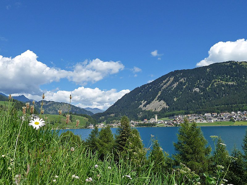 View on the Resia lake
